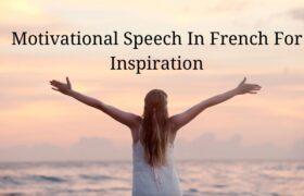 Motivational Speech In French